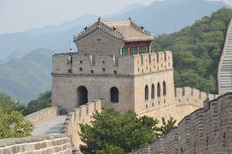 Wielki Mur Chiny strażnika stacja zdjęcia stock