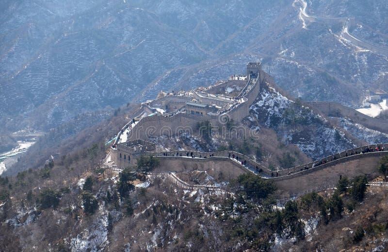 Wielki mur Chiny w Badaling, Chiny zdjęcia royalty free
