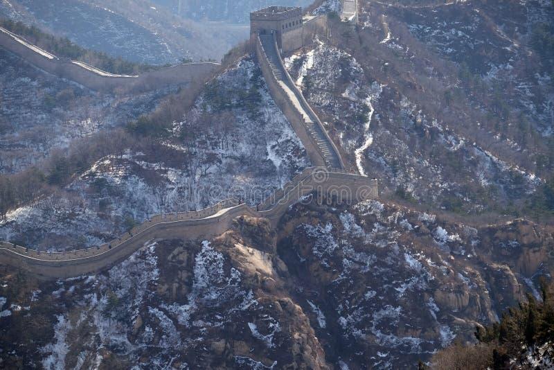 Wielki mur Chiny w Badaling, Chiny obrazy stock