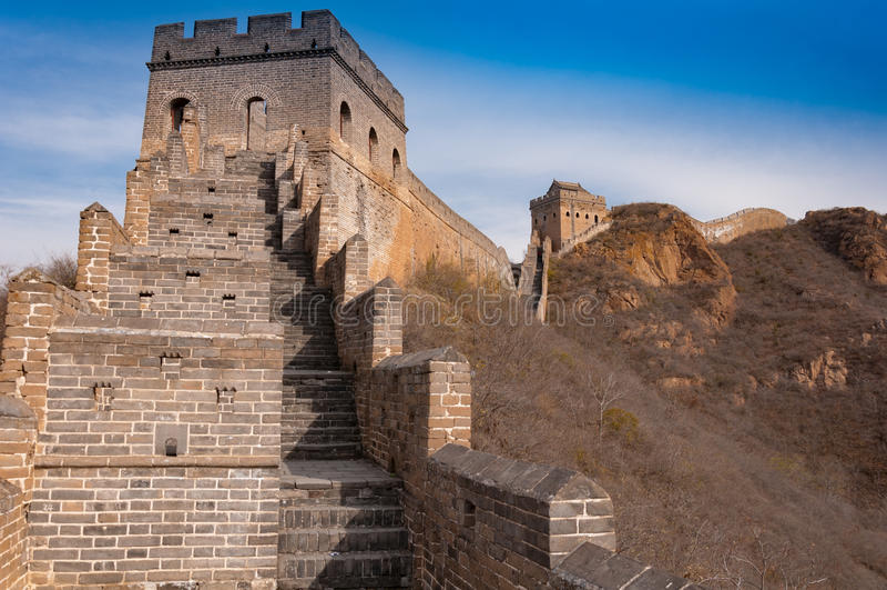 Wielki mur porcelana w jinshanling obrazy royalty free