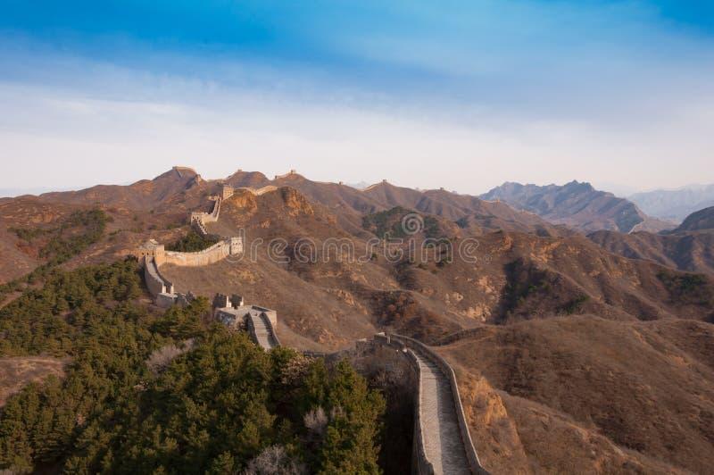 Wielki mur porcelana w jinshanling fotografia stock