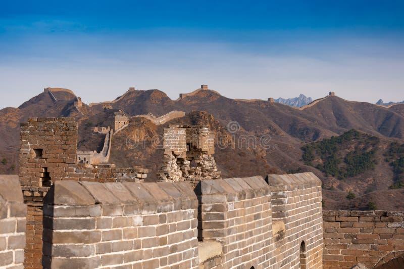 Wielki mur porcelana w jinshanling obraz royalty free