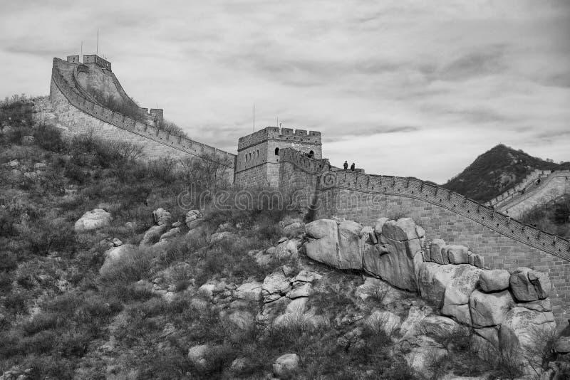 Wielki mur przy Badaling, Chiny obrazy royalty free