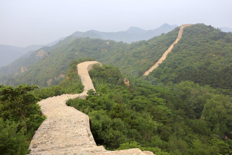 Wielki mur przy longquanyu doliną, adobe rgb zdjęcie royalty free
