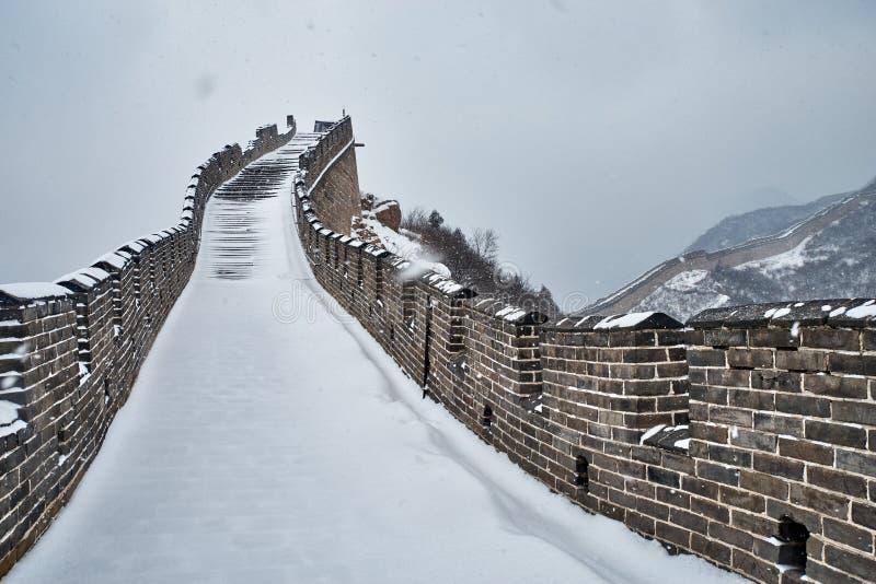 Wielki mur w zimie fotografia stock