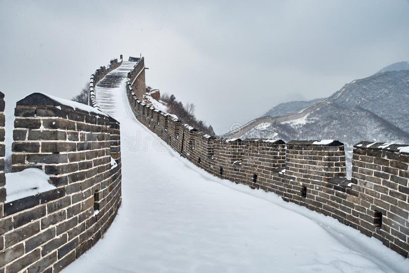 Wielki mur w zimie zdjęcie royalty free