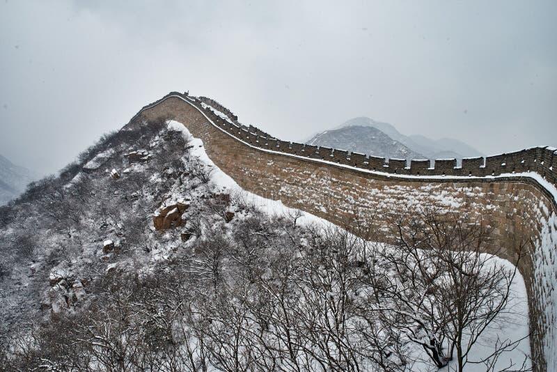 Wielki mur w zimie fotografia royalty free
