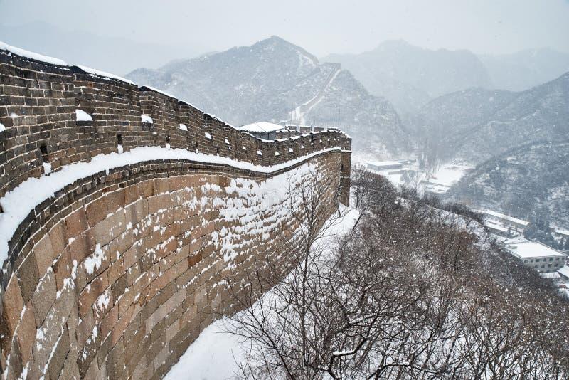 Wielki mur w zimie obrazy stock