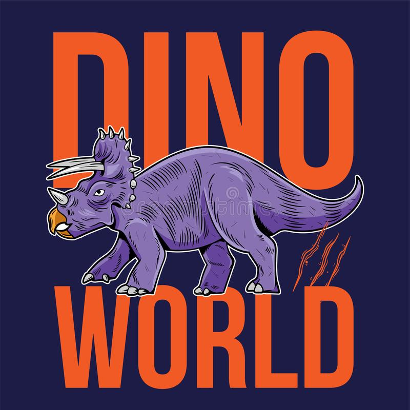 Wielki, niebezpieczny dinozaur Dino ilustracja wektor