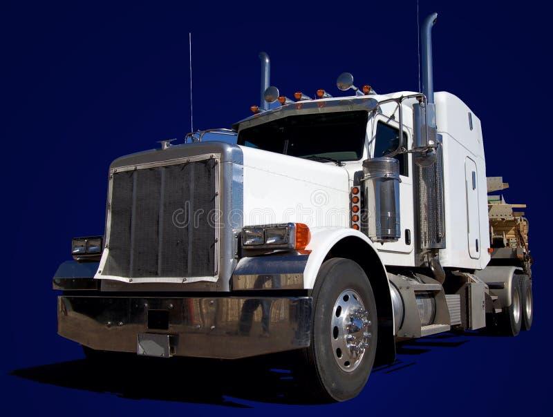wielki niebieski ciężarówki white obraz stock