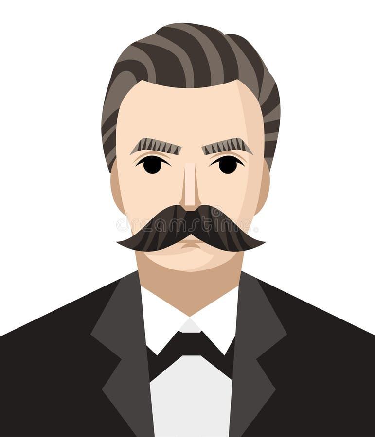 Wielki niemiecki filozof royalty ilustracja