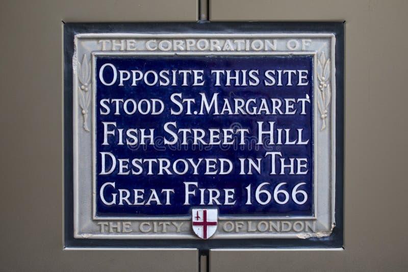 Wielki ogień Londyn 1666 fotografia royalty free