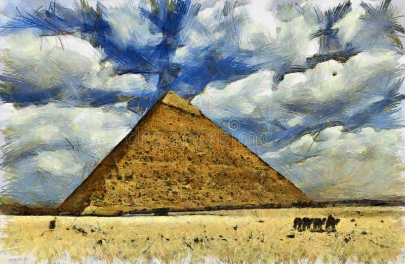 Wielki ostrosłup Egipt ilustracja wektor