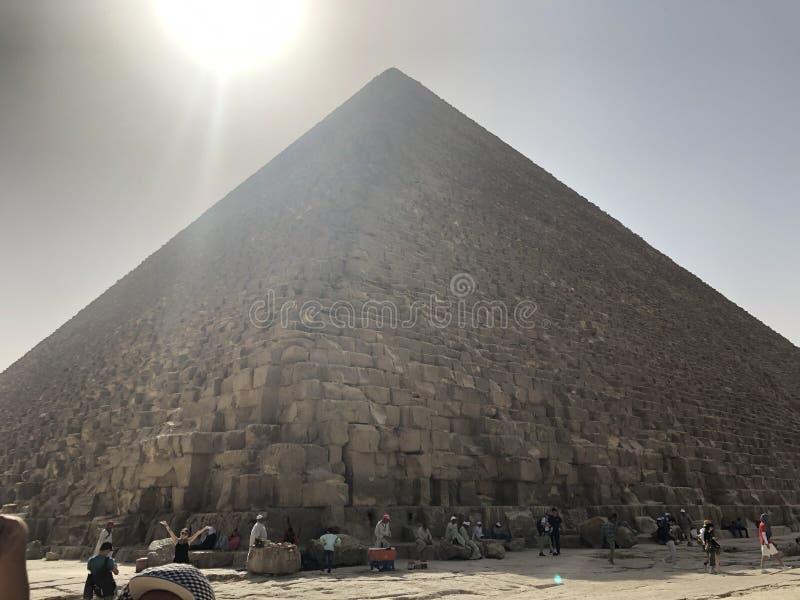 Wielki ostrosłup Gizaï ¼ ˆPyramid Khufuï ¼ ‰ obrazy stock