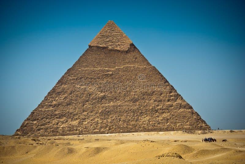 Wielki ostrosłup Giza, Egipt obrazy royalty free