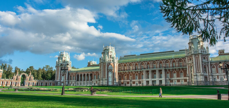 Wielki pałac w zespole Tsaritsyno obraz stock