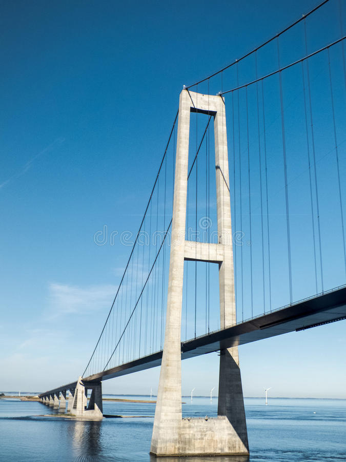 Wielki Pasowy zawieszenie most, Dani zdjęcie stock