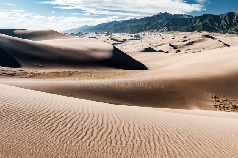 Wielki piasek diun parka narodowego krajobraz fotografia royalty free