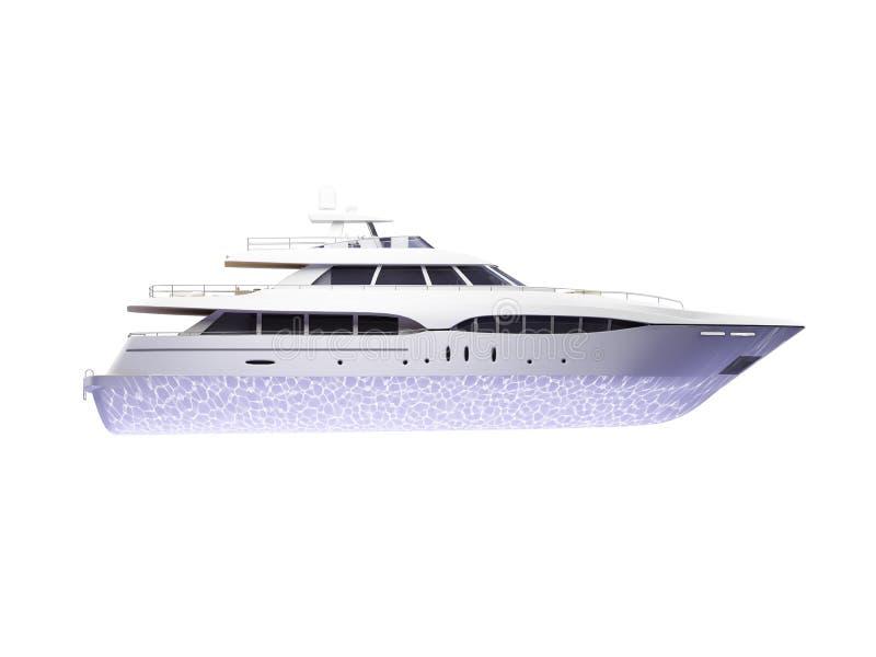 wielki pojedynczy boczne uwagi na jacht ilustracja wektor