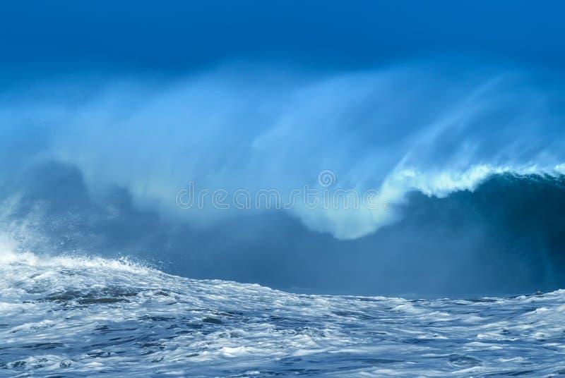 Wielki potężny ocean fala tło obraz royalty free