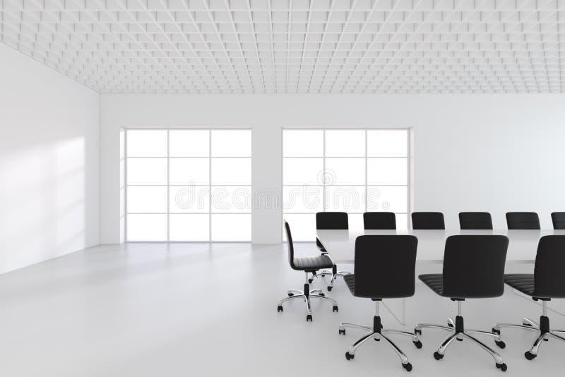 Wielki przestronny pokój konferencyjny z okno świadczenia 3 d ilustracja wektor
