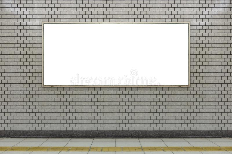 Wielki pusty billboard na ulicznej ścianie, sztandary z pokojem dodawać fotografia stock
