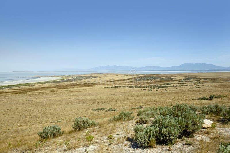 Wielki Salt Lake krajobraz zdjęcia royalty free