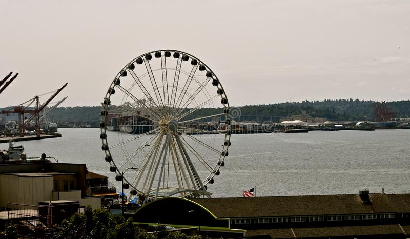 Wielki Seattle Ferris koło zdjęcie stock