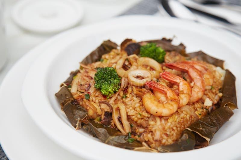 Wielki smak owoce morza Smażący Rice 30 zdjęcia stock