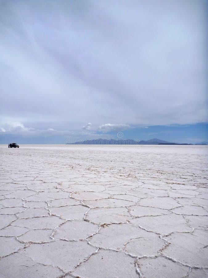 Wielki solankowy prosty Salar De Uyuni zdjęcie royalty free