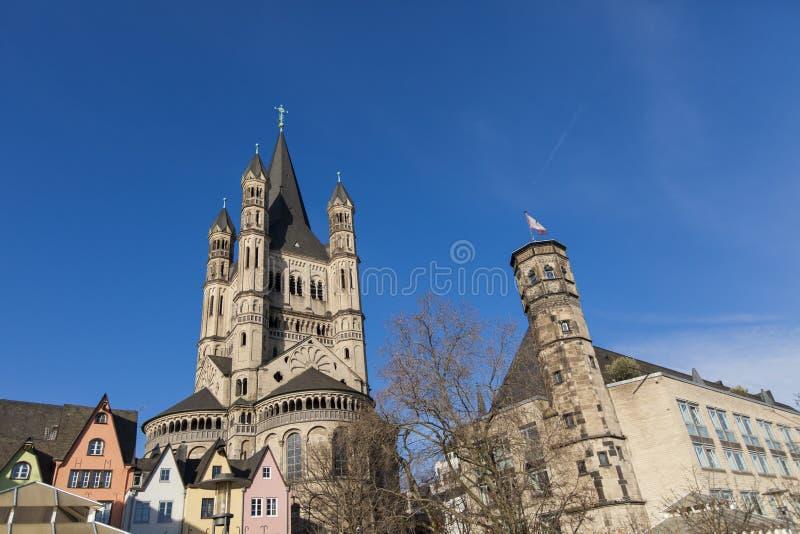 Wielki St Martin kościół w Kolonia, Niemcy zdjęcie stock