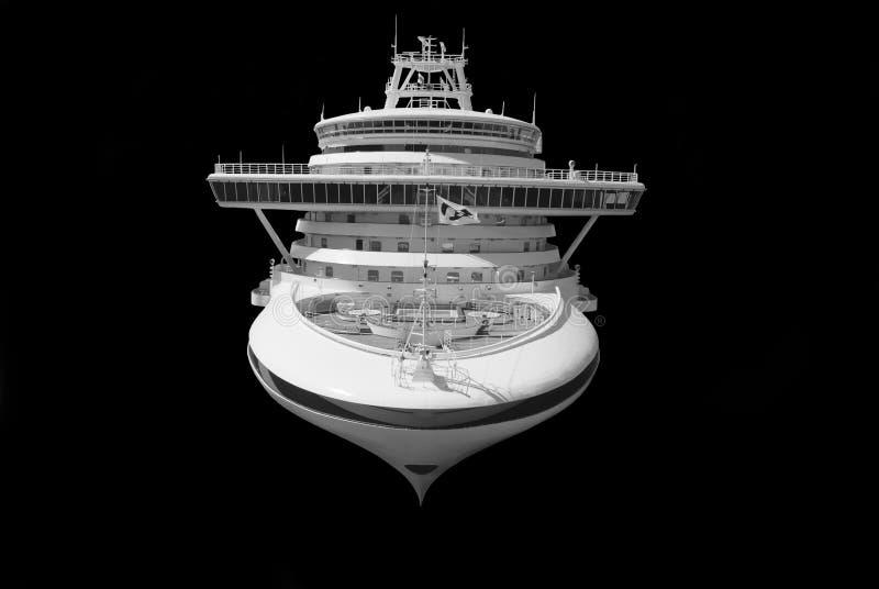 Wielki statek wycieczkowy odizolowywający zdjęcie stock