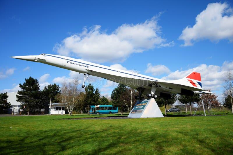 Wielki szalkowy model Concorde obrazy royalty free