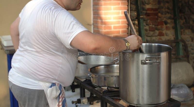 wielki szef kuchni pracy zdjęcie stock