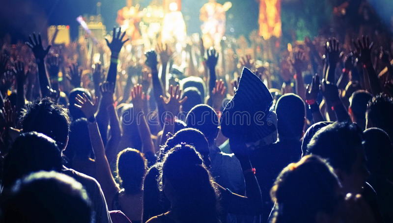 Wielki tłum ludzie przy a obraz stock