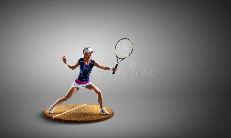 Wielki tenisista Multimedia mieszane obrazy stock