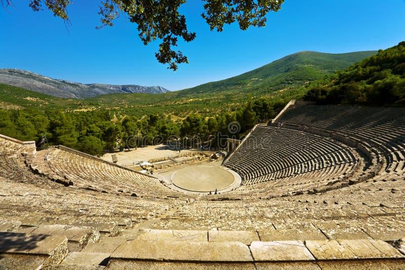 Wielki Theatre Epidaurus zdjęcia stock