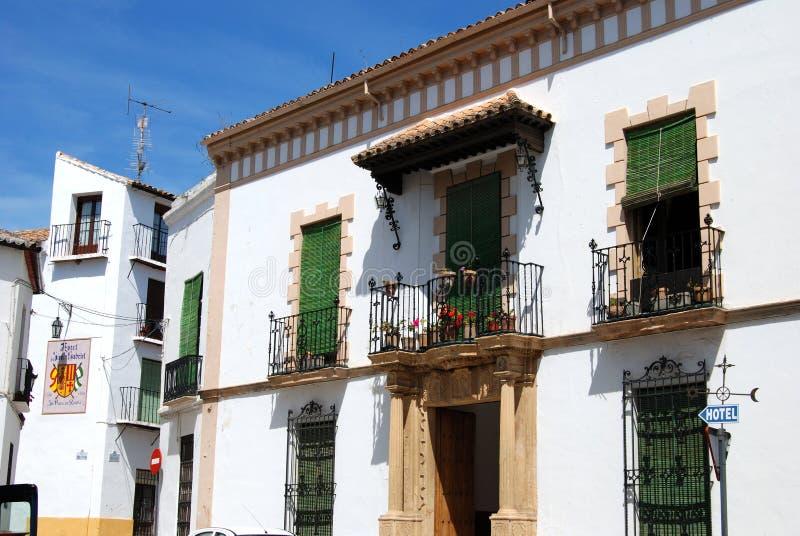Wielki tradycyjny hiszpańszczyzna dom w starym miasteczku, Ronda, Hiszpania obrazy stock