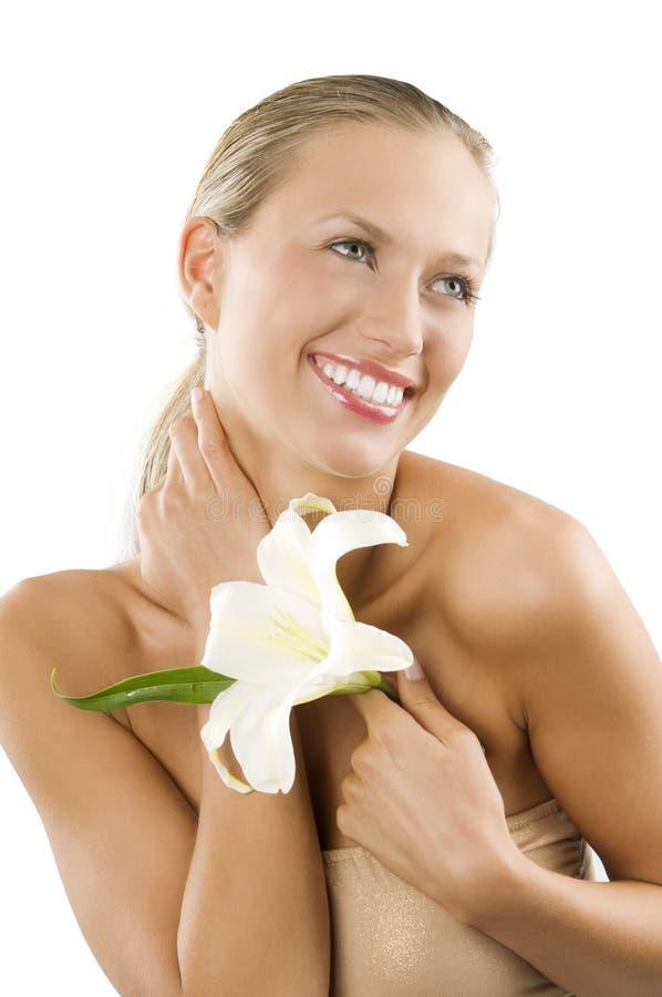 wielki uśmiech white zdjęcia royalty free