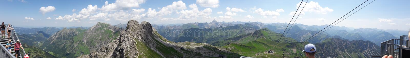 Wielki widzieć od Nebelhorn obrazy stock