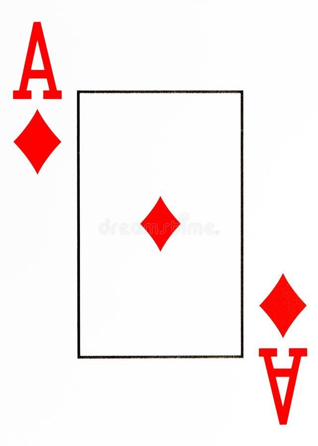 Wielki wskaźnika karta do gry as diamenty royalty ilustracja