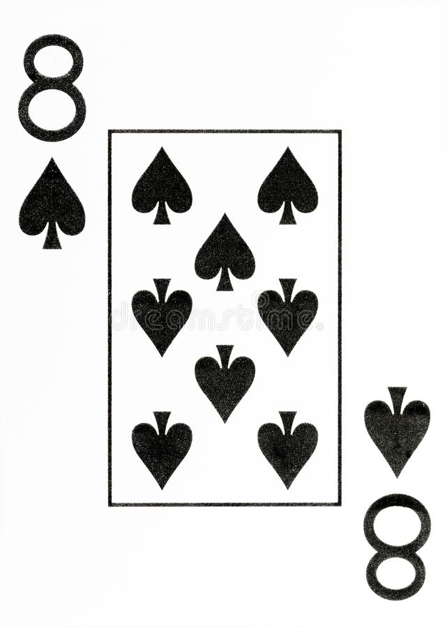 Wielki wskaźnika karta do gry 8 rydle zdjęcia royalty free