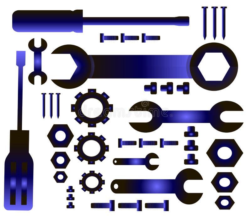 Wielki wybór narzędzie ikony - przemysł ilustracja wektor