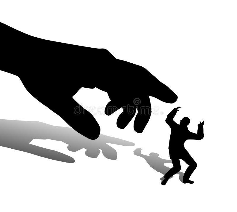 wielki wybranych ręka człowieka jeden mały ilustracja wektor