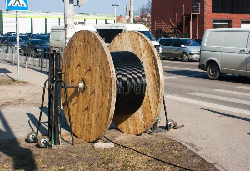 Wielki zwitka kabel outside zdjęcie royalty free
