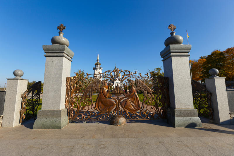 Wielkie dokonanego żelaza bramy zdjęcia stock