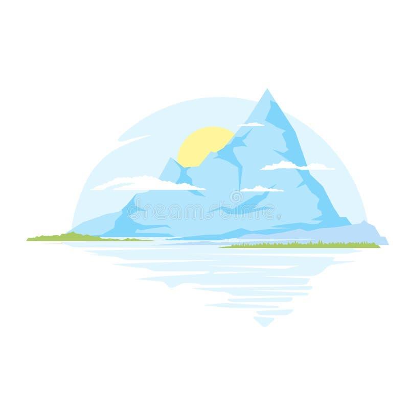wielkie góry ilustracja wektor