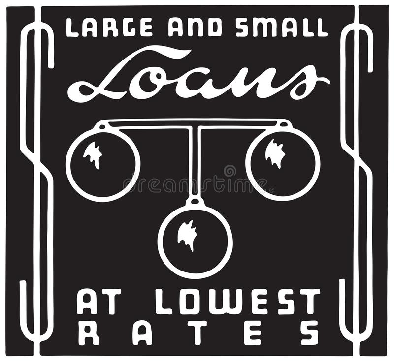 Wielkie I Małe pożyczki ilustracja wektor