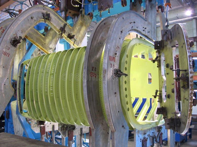 Wielkie metal części pleśnieją w przemysłowej fabrycznej manufakturze obrazy royalty free