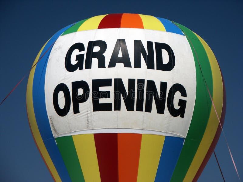 wielkie otwarcie balonowy obraz stock